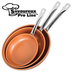 Copper Ceramic Frying Pan Set