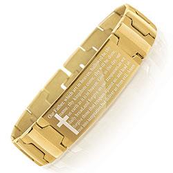 Steeltime Lords Prayer Bracelet & Wallet Set