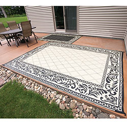 Caribou Creek Black & Tan JD-0811 Outdoor Rug - 8 x 11