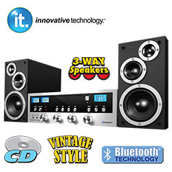 Vintage Style CD/Bluetooth Stereo System