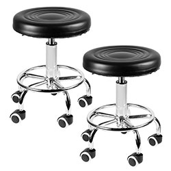 Open Box 2-Pack Pneumatic Rolling Bar Stool