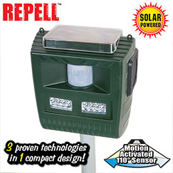 Open Box 3-in-1 Solar Animal Repeller