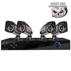 Open Box Night Owl 4 Camera DVR Security System