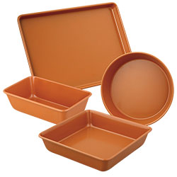 Culinary Edge Copper Bakeware Set - 4 Piece