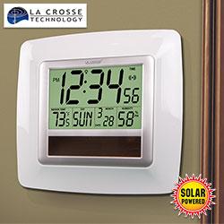 LaCrosse Solar Atomic Clock - White