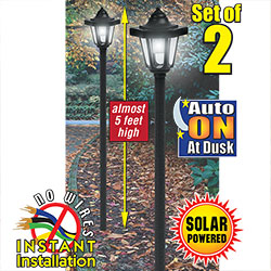 2 Pack Coach Style Solar Light