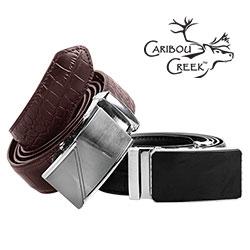 Caribou Creek Brown Leather Crocodile Belt