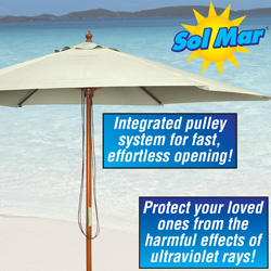 Solmar Natural Market Umbrella