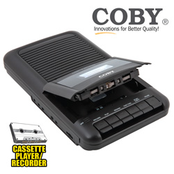 Coby Portable Cassette Recorder