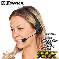 Emerson Over-head Bluetooth Headset