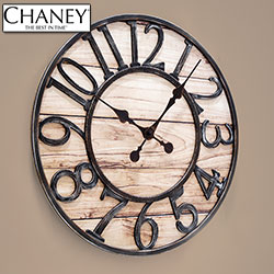 Wood Finish Track Clock