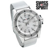 Swiss Spirit Mesh Sports Watch - Silver