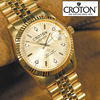 Croton 6 Diamond Gold Watch