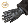 Lambskin Leather Gloves - Womens