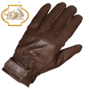 Mens Lambskin Gloves - Brown