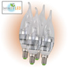 4 Pack Warm LED Candelabra Bulbs