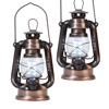 Copper 12 LED Lanterns - Set of 2