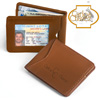 Leather Clip Wallet - Brown