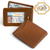 Carlos Chavez Brown Leather Clip Wallet