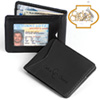 Carlos Chavez Black Leather Clip Wallet