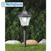 4-Piece Die Cast Aluminum Solar Lights - Black