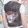 Leather Eagle Vest