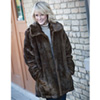 Womens Faux Mink Coat