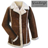 Womens Brown Suede Coat