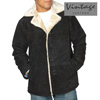 Suede Shearling Jacket - Black