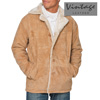 Suede Shearling Jacket - Beige