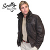 Brown Leather Jacket with Zip