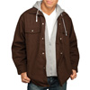 Utility Pro Jacket with Fleece Hood - Brown