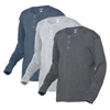Long Sleeve Henleys - 3-Pack