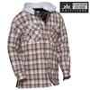 Quilt-Lined Hooded Flannel - Brown