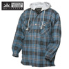 Quilt-Lined Hooded Flannel - Blue