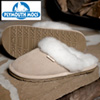 Plymouth Mocs Womens Scuff Leather Slippers