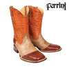 Ferrini Teju Lizard Boots - Peanut Brown