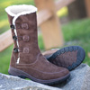 Womens Toggle Winter Boots - Brown