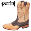 Ferrini Bison Boots - Antique Saddle
