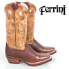 Ferrini Bison Boots - Chocolate