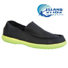 Island Surf Slip-Ons - Black/Green
