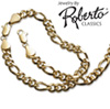 Figaro 14k Gold Necklace and Bracelet
