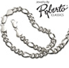 Figaro Sterling Silver Necklace and Bracelet