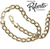 Curb 14k Gold Necklace and Bracelet