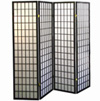 4-Panel Room Divider - Black