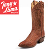 Tony Lama Cognac Ostrich Boots
