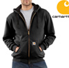 Carhartt Zip Front Hooded Sweatshirt - Black