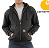 Carhartt Zip Front Hooded Sweatshirt - Charcoal Heather