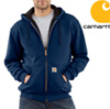 Carhartt® Zip Front Hooded Sweatshirt - Navy