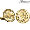 Gold-Layered Buffalo Nickel Cufflinks